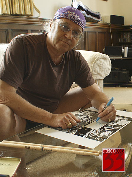 Ian Paice signing Deep Purple book 2015